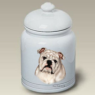 Ceramic Treat Cookie Jar - White English Bulldog (TB) 34200
