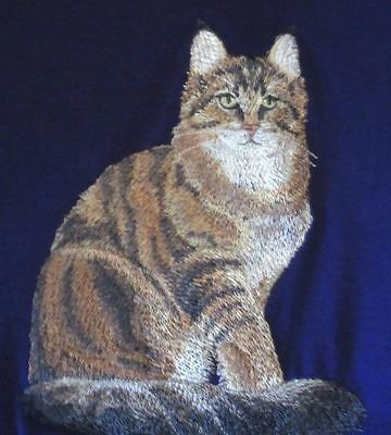 Embroidered Fleece Jacket - Maine Coon Cat C7917 Sizes S - XXL