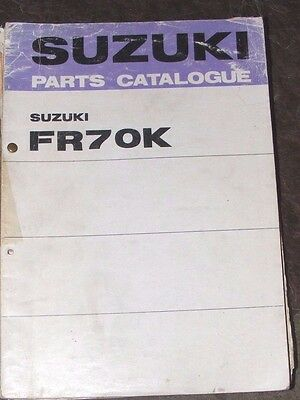 SUZUKI FR70K  GENUINE PARTS CATALOGUE  (1st EDITION  1975)
