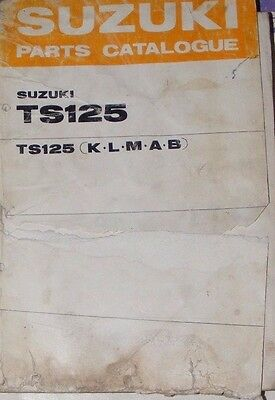 Suzuki Ts125K / L / M / A / B    (Genuine Parts Catalogue)