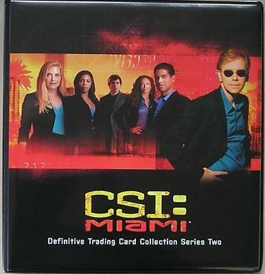 CSI Miami Series 2 Trading Card Binder with Base Card Set + Binder Pages - New