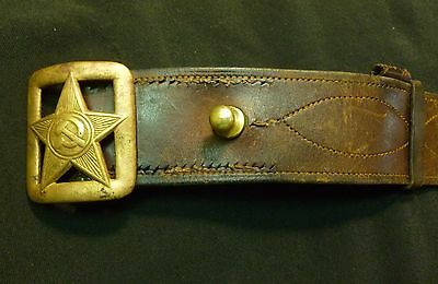 1935 Russian Soviet Red Army Officer Pre WWII Uniform Leather Belt RKKA RARE