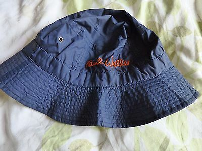 Paul Weller - Official Blue 'bucket' Style Hat With Orange Text (Gig Merch)