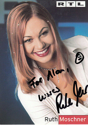 Ruth Moschner Germanys Got Talent & German Big Brother Hand Signed Photo