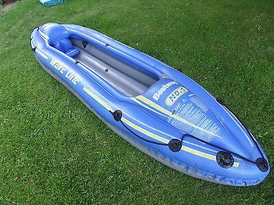 Inflatable 2 Man kayak / canoe and paddle,  Bestway number 1 wave line