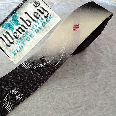 60s VINTAGE BACKSTOCK NWOT WEMBLEY TIE EAMES GREAT GRAPHICS GRAY SUPER-SKINNY W2