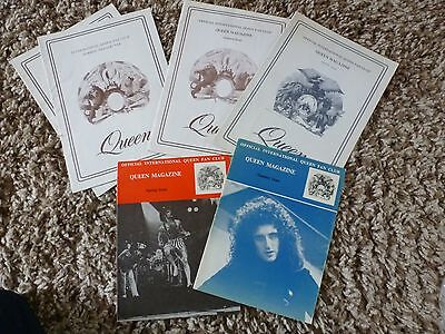 Queen, Freddie Mercury, Brian May, Roger Taylor VERY RARE  1976/77 FC magazines!