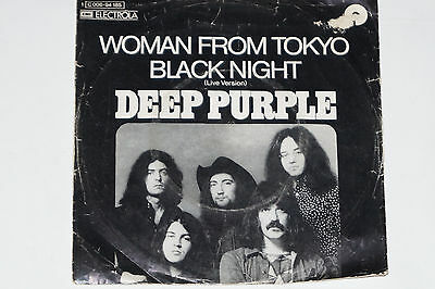 "DEEP PURPLE -Woman From Tokyo / Black Night (Live Version)- 7"" 45 EMI Electrola"