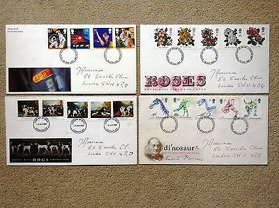 Collection of FOUR First Day Covers FDC - All from 1991