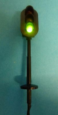 2 x N Gauge Road Traffic LED 12Volt Lights Fitted Resisters Signals 2.5cm Tall: