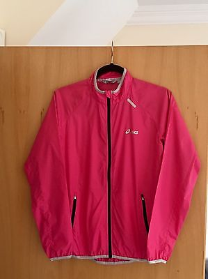 Ladies Pink ASICS Sports Fitness Jogging Running Jacket Coat Top Size Small NWOT