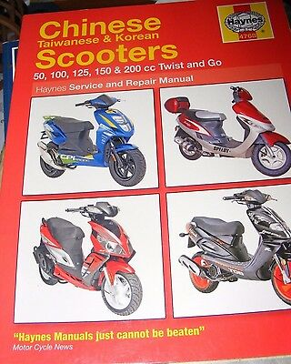 Chinese Taiwanese & Korean 50/100/125/150/200 Scooters Manual