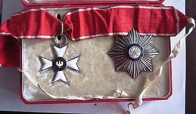 Poland Polish Order Polonia Restituta 2nd class with case , 1918y. emission!