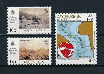Ascension  266-8 MNH, Royal Geographical Society, 1980