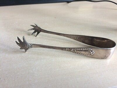 Silver Plated Claw Sugar Tongs Nips