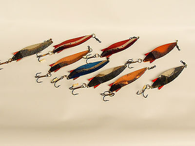LARGE COLLECTION ABU GARCIA TOBY SALMO SPOONS 9 X 30g