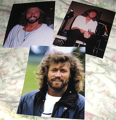 ( Pack 3 ) Bee Gees  3 Large Barry Gibb  Photographs
