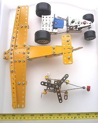 Meccano  Plane, Car, Copter, Wheels, Motor Etc   – Lot 4