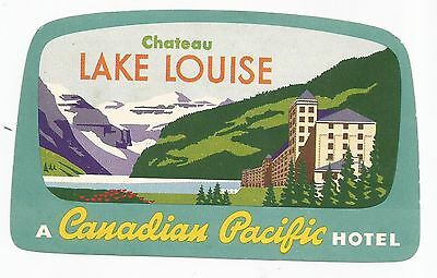 HOTEL CHATEAU LAKE LOUISE luggage label (CANADIAN PACIFIC)