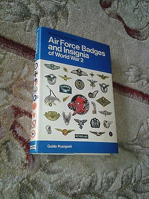 Air Force Badges And Insignia World War 2 Guido Rosignoli H/b Book 1976