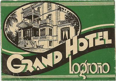 GRAND HOTEL luggage SPAIN label (LOGRONO)