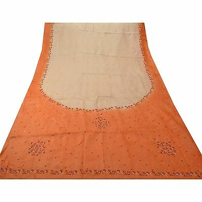 Sanskriti Antique Vintage Saree 100% Pure Silk Embroidered Fabric Premium Sari