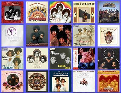 The Supremes Of The 70's Record Albums,  20 Photo Fridge Magnets