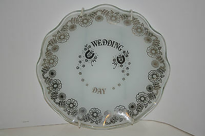 """""""wedding Day"""" Glass Plate, Excellent Condition"""