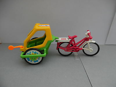 playmobil puppenhaus fahrrad mit kinder anh nger eur 5. Black Bedroom Furniture Sets. Home Design Ideas