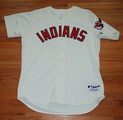 c 2008 Roberto Hernandez Cleveland Indians Game Used Throwback Home Jersey-#55