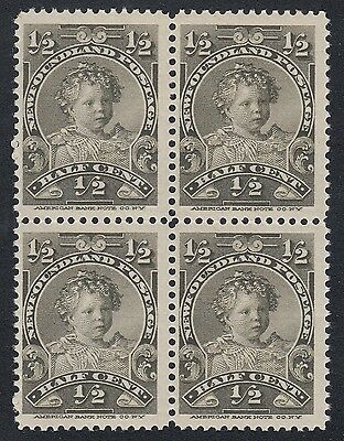 Newfoundland No 78 Mint Never Hinged Very Fine Block of 4