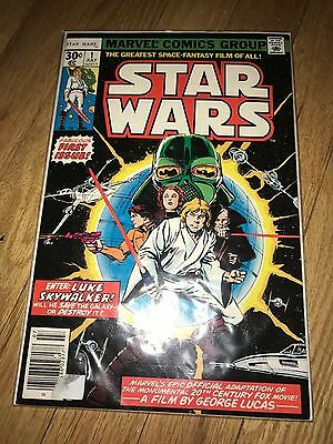 Star Wars #1 First Issue July 1977, Marvel Comics 30 Cents Issue Luke Skywalker