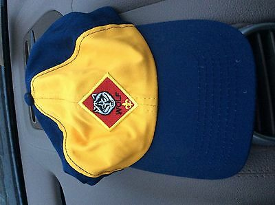 Wolf Cub Scout hat blue yellow s/m