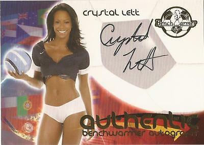 """Benchwarmer 2006 World Cup -  #8 of 30 """"Crystal Lett"""" Auto / Autograph Card"""