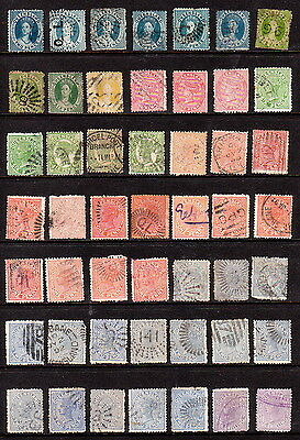 QV Queensland/Australia early used range, 3 pages