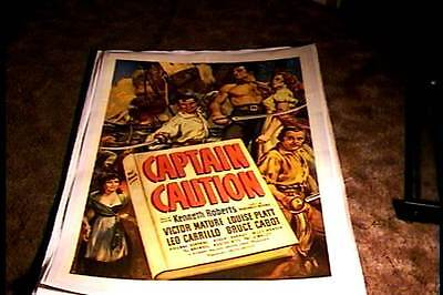Captain Caution Orig Movie Poster 1940 Linen Victor Mature Swashbuckler