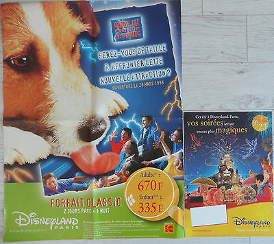 Lot 2 affiches Disneyland Paris 1999 2001