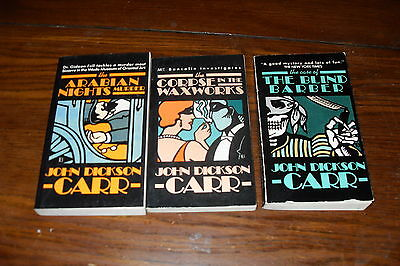 Nice Bundle of mystery by  JOHN DICKSON CARR     free s/h CAN