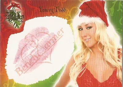 """Benchwarmer 2006 Holiday Series - 7 of 10 """"Yancey Todd"""" Kiss Card"""