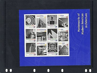 USA - Non Hinged Mint - American Architecture Sheet - Sc 3910 - 12 stamps