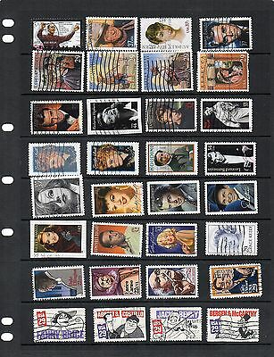 USA - used Singles from  Sets,etc - 64  stamps