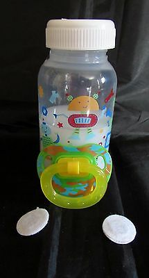 Reborn magnetic baby bottle combo 5 oz Faux Fake milk baby bottle and pacifier
