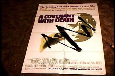Covenant With Death Orig Movie Poster 1967 Horror Exploitation George Maharis