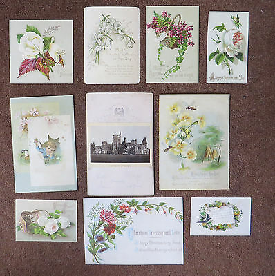 C3530 10 Victorian Greetings Cards: Mixed Subjects