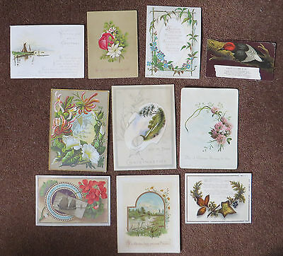 C3628 10 Victorian Greetings Cards: Mixed Subjects