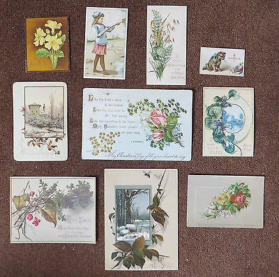 C3627 10 Victorian Greetings Cards: Mixed Subjects