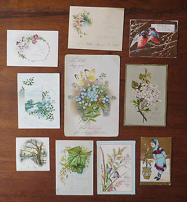C3829 10 Victorian Greetings Cards: Mixed Subjects