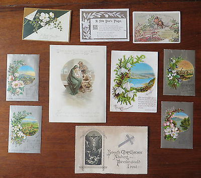 C3929 10 Victorian Religious Greetings Cards