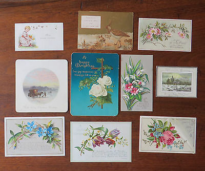 C3928 10 Victorian Greetings Cards: Mixed Subjects
