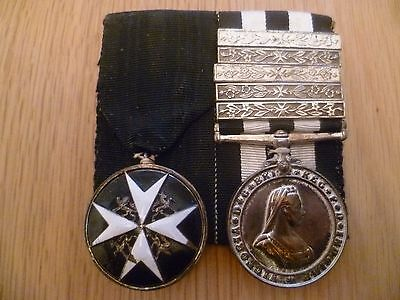 St Johns Ambulance Cross & Queen Victoria Medal 1945